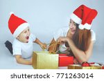 happy family mother and baby in ... | Shutterstock . vector #771263014