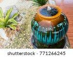 jar fountain decoration in the... | Shutterstock . vector #771266245