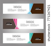 vector design banner background.... | Shutterstock .eps vector #771267421