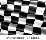 computer generated chequered... | Shutterstock . vector #7712689