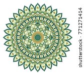 ethnic ornamental mandala.... | Shutterstock . vector #771271414