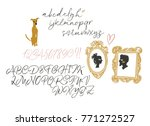 elegant calligraphic brush... | Shutterstock .eps vector #771272527