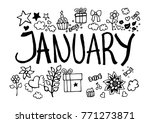 january doodle sketch | Shutterstock .eps vector #771273871