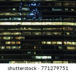 office building at night. late... | Shutterstock . vector #771279751