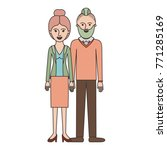 couple colorful silhouette and... | Shutterstock .eps vector #771285169