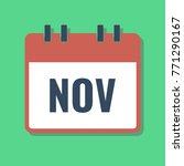 november month name in calendar ...
