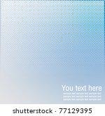 Blue Color Halftones Background