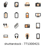 devices orange vector icons for ... | Shutterstock .eps vector #771300421