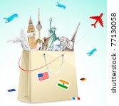 illustration of shopping bag... | Shutterstock .eps vector #77130058
