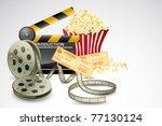 illustration of clapper board... | Shutterstock .eps vector #77130124
