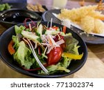 closeup of mix fresh salad with ... | Shutterstock . vector #771302374