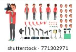 photographer. taking pictures.... | Shutterstock . vector #771302971