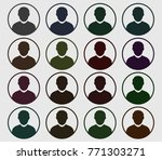 profile icon set. different... | Shutterstock .eps vector #771303271