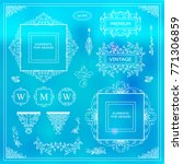 vector set of vintage elements... | Shutterstock .eps vector #771306859