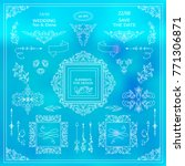 vector set of vintage elements... | Shutterstock .eps vector #771306871