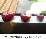 Beautiful Red 3 Hearts On The...