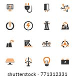 electricity vector icons for... | Shutterstock .eps vector #771312331