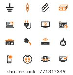 electronic repair vector icons... | Shutterstock .eps vector #771312349