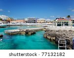 Waterfront Shopping Area In...