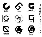 black g letter vector logos... | Shutterstock .eps vector #771323557