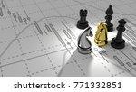 investor chess horse golden... | Shutterstock . vector #771332851