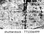 grunge black and white pattern. ... | Shutterstock . vector #771336499