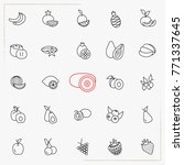 berries and fruits line icons...   Shutterstock .eps vector #771337645