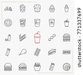 fast food line icons set | Shutterstock .eps vector #771337699