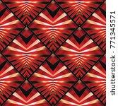 modern striped 3d geometric... | Shutterstock .eps vector #771345571