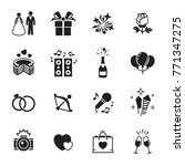 wedding  marriage icons set | Shutterstock .eps vector #771347275