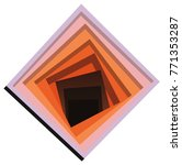 square abstraction illusion of... | Shutterstock .eps vector #771353287