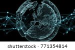 connections system sphere...   Shutterstock . vector #771354814