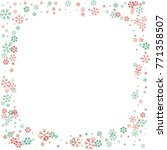 square christmas border or... | Shutterstock .eps vector #771358507