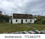 a typical old irish cottage.... | Shutterstock . vector #771362275