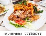 deep fried fish  famouse thai... | Shutterstock . vector #771368761