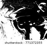 black and white liquid texture. ...   Shutterstock .eps vector #771372355