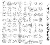 beach theme doodle set. various ... | Shutterstock .eps vector #771376324
