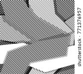 Halftone bitmap lines retro background Black White Pattern Wallpaper Seamless