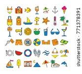 doodle summer vector icon in... | Shutterstock .eps vector #771378391
