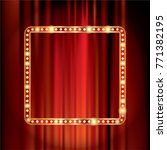red velvet with golden frame... | Shutterstock .eps vector #771382195