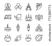 thailand icon set. included the ... | Shutterstock .eps vector #771385771