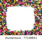 Colorful Wooden Beads Frame On...