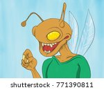 a bug or insect cartoon... | Shutterstock . vector #771390811