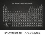white chemical periodic table... | Shutterstock . vector #771392281