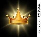 golden crown on abstract... | Shutterstock .eps vector #771396244