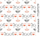 seamless pattern with funny... | Shutterstock .eps vector #771397279