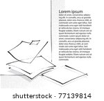blank sheets of paper  icon ... | Shutterstock .eps vector #77139814