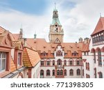 Stock photo new city hall in hannover germany 771398305