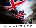 a line of union flag  union...   Shutterstock . vector #771413935