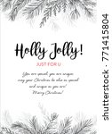 merry christmas greeting card ... | Shutterstock .eps vector #771415804